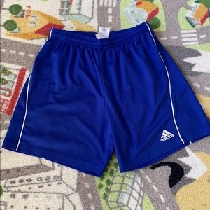 Blue Adidas Soccer Shorts